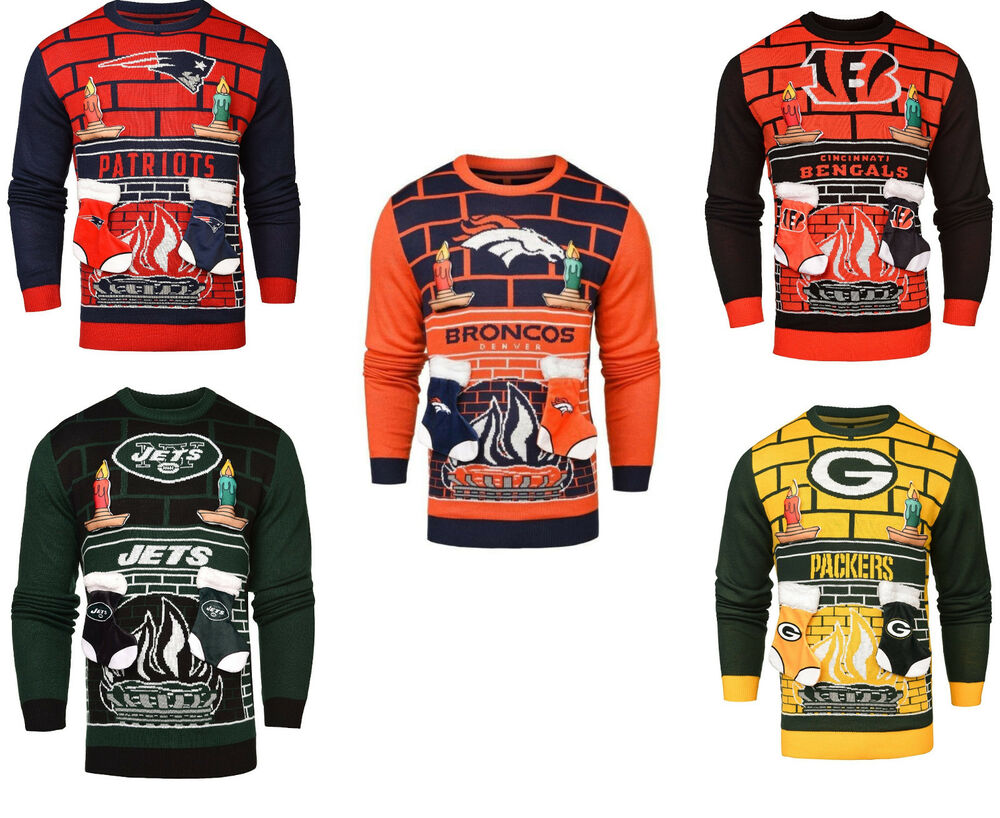 NFL 3D Mens Ugly Christmas Sweater | eBay
