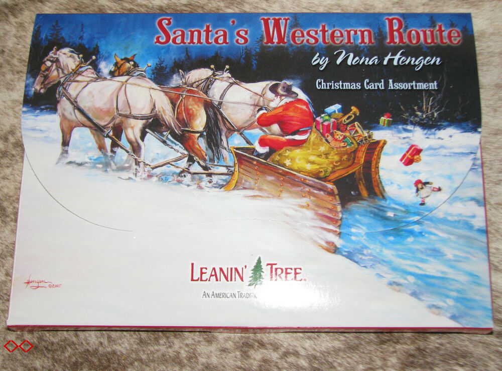 LEANIN TREE Santa's Western Route Christmas Cards 2 each of 10 designs  32687004293 | eBay - LEANIN TREE Santa's Western Route Christmas Cards 2 Each Of 10