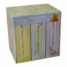 Winnie the Pooh Photo Library Set: (First 3 Years) Three 100-page Baby Albums
