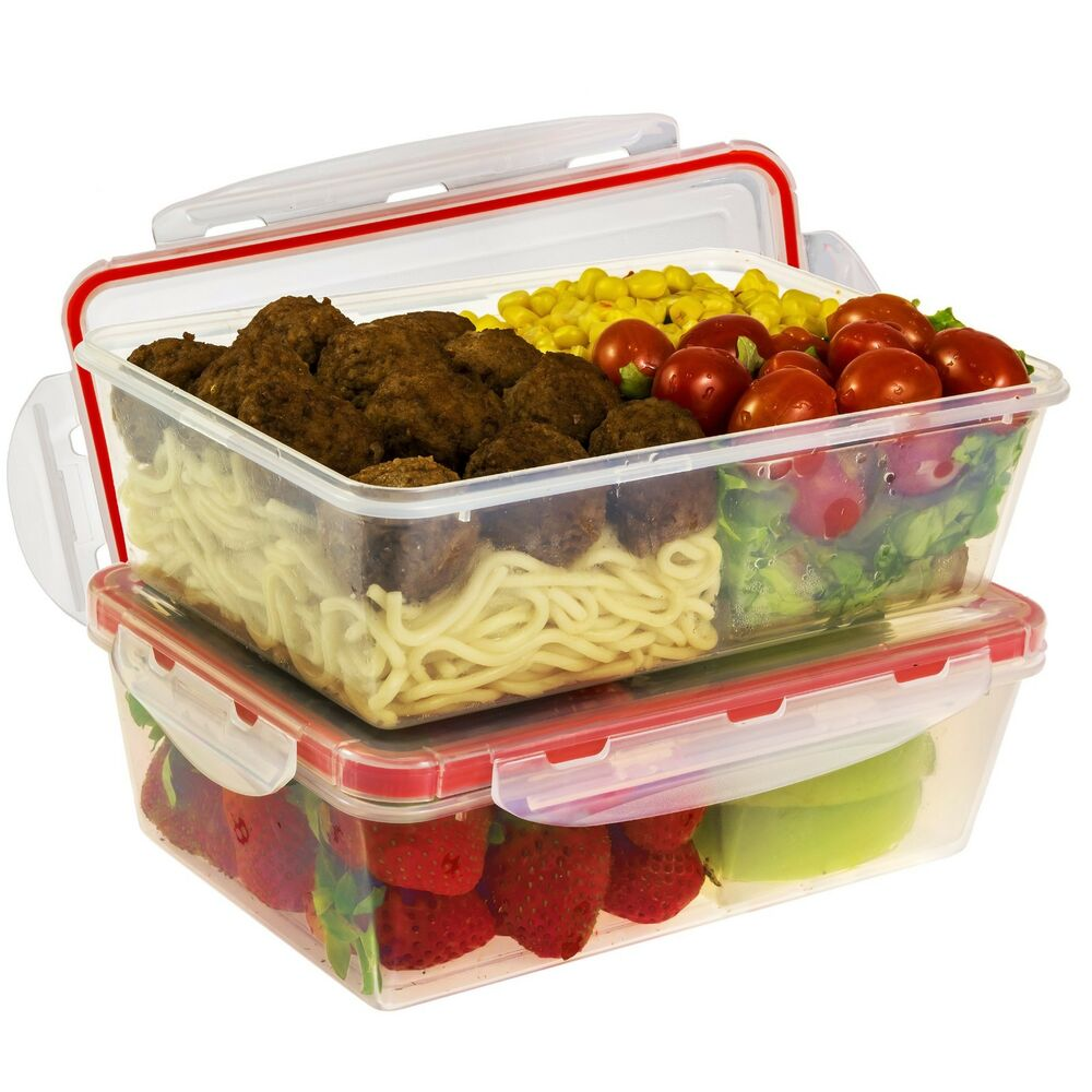 a2s protection bento lunch box 2pcs meal prep containers microwavable bpa free ebay. Black Bedroom Furniture Sets. Home Design Ideas