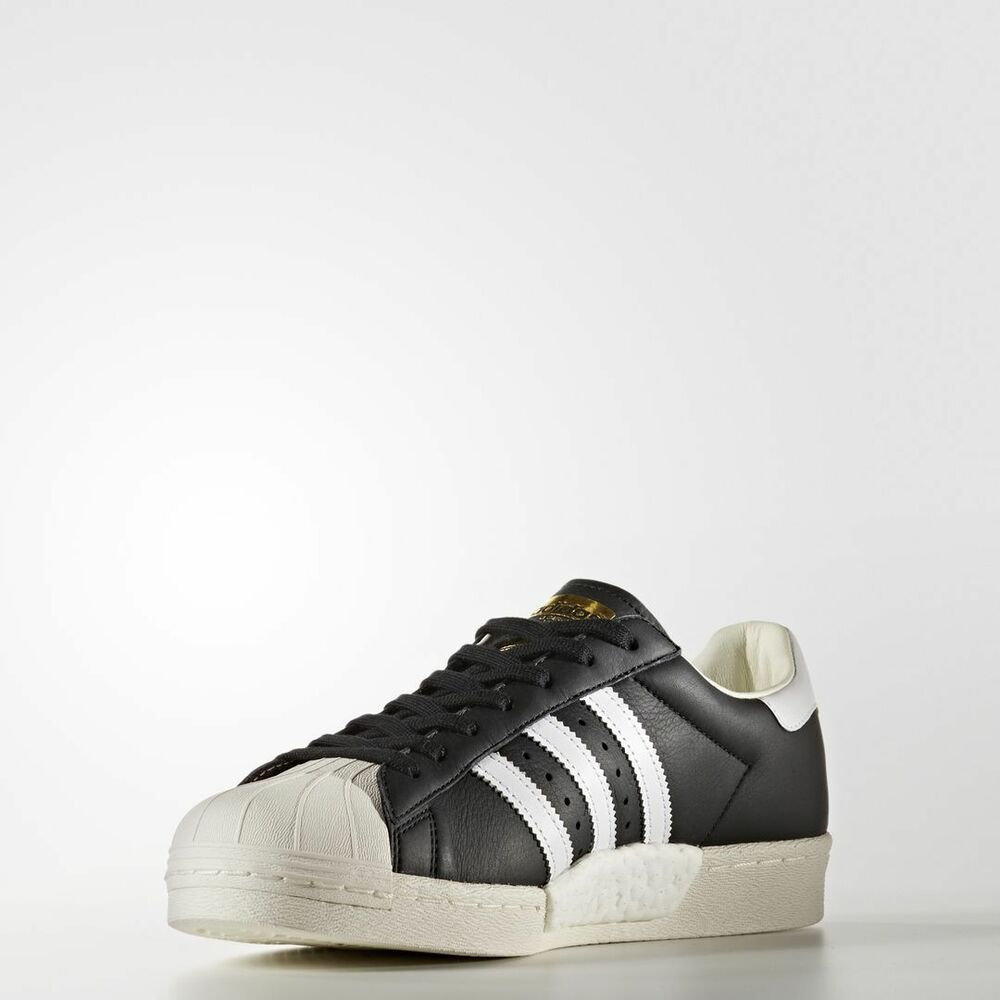 21a86a2a0 Details about Adidas Superstar Boost Core Black   BB0189   Men s AD Ftw White  Gold Metallic