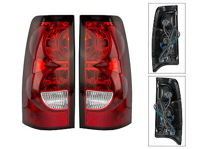 Tail Light Lamps for 04 - 07 Silverado Truck 1500 2500 3500 Left Right Set