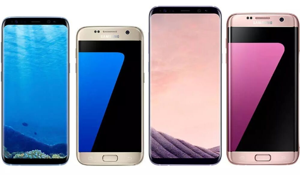 samsung galaxy s8 plus s8 s7 edge s7 s6 unlocked t mobile at t android os ebay. Black Bedroom Furniture Sets. Home Design Ideas