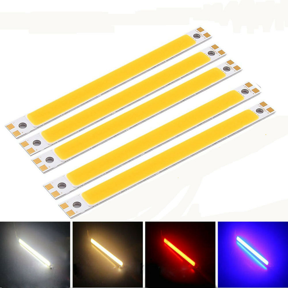 120 10mm cob led verkleidungs heller streifen stab 10w warmes lampen rechteck ebay. Black Bedroom Furniture Sets. Home Design Ideas