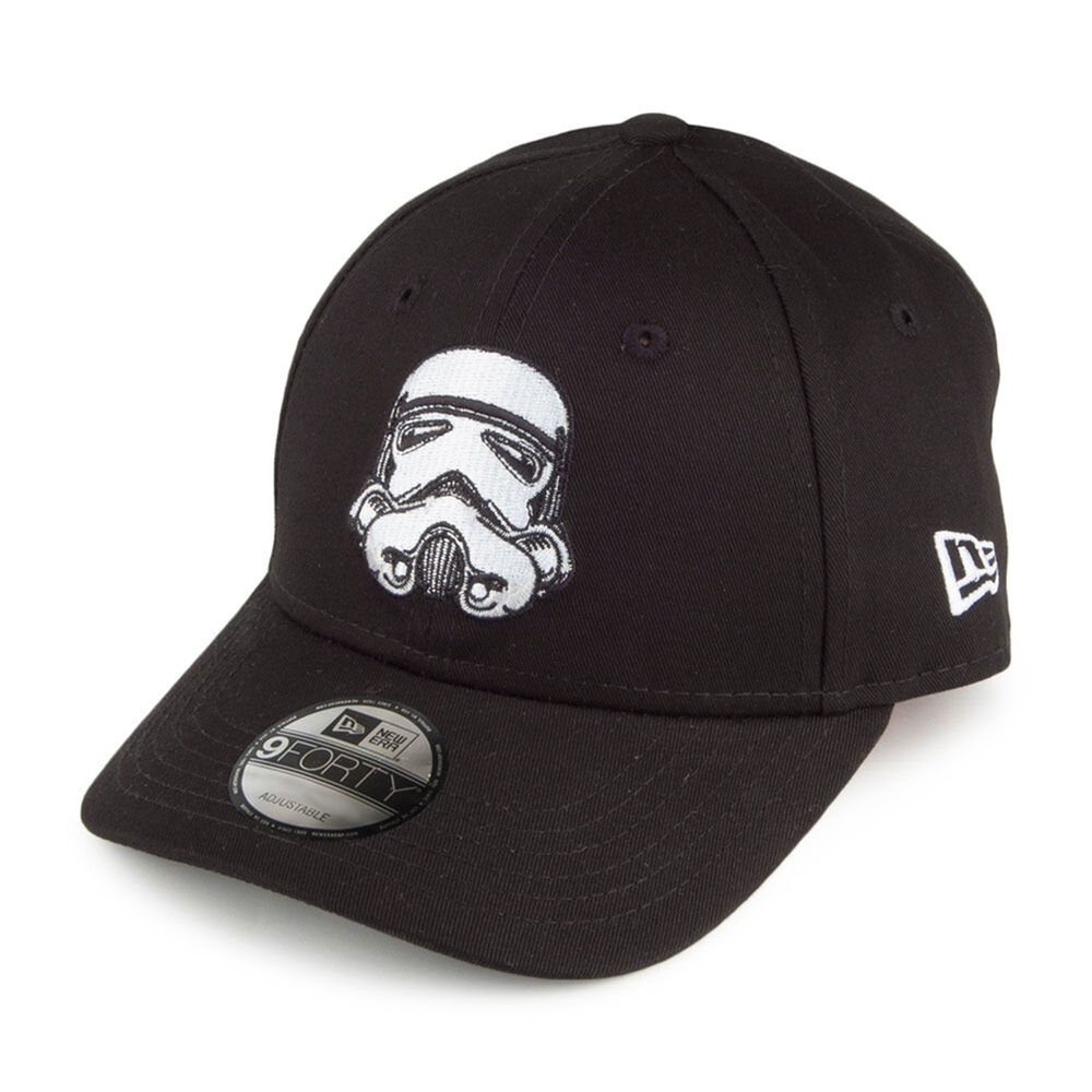 more photos e4a03 bef6f Details about New Era Kids 9Forty Star Wars Stormtrooper Curve Peak Black  Adjustable Cap Hat