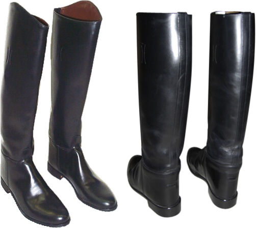 Black Leather Handmade Riding Boots Men Boots For Horse