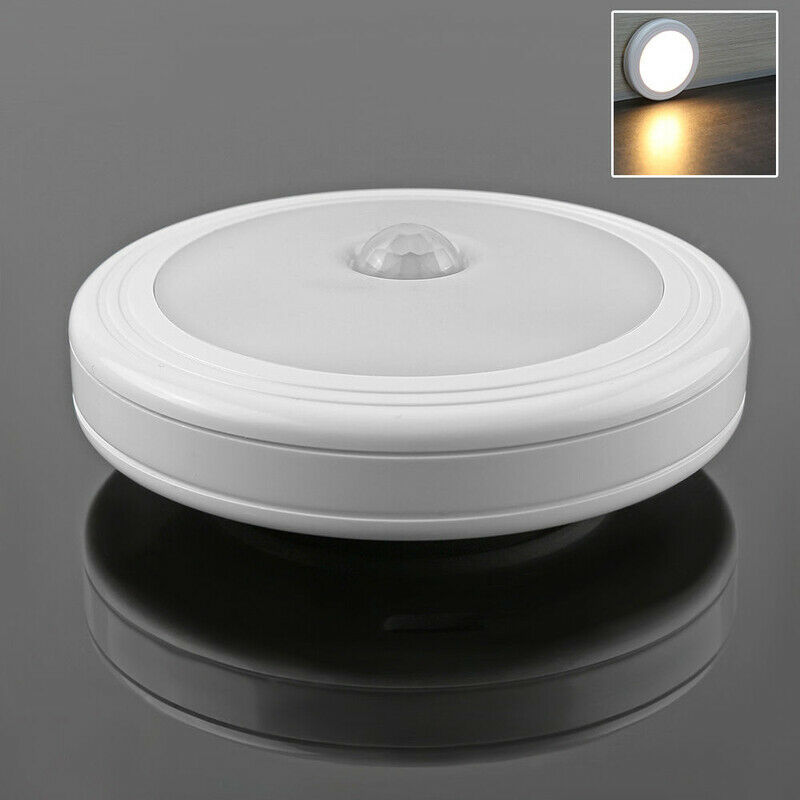Lighting Basement Washroom Stairs: 6 LED Wireless PIR Auto Motion Sensor Infrared Night Light