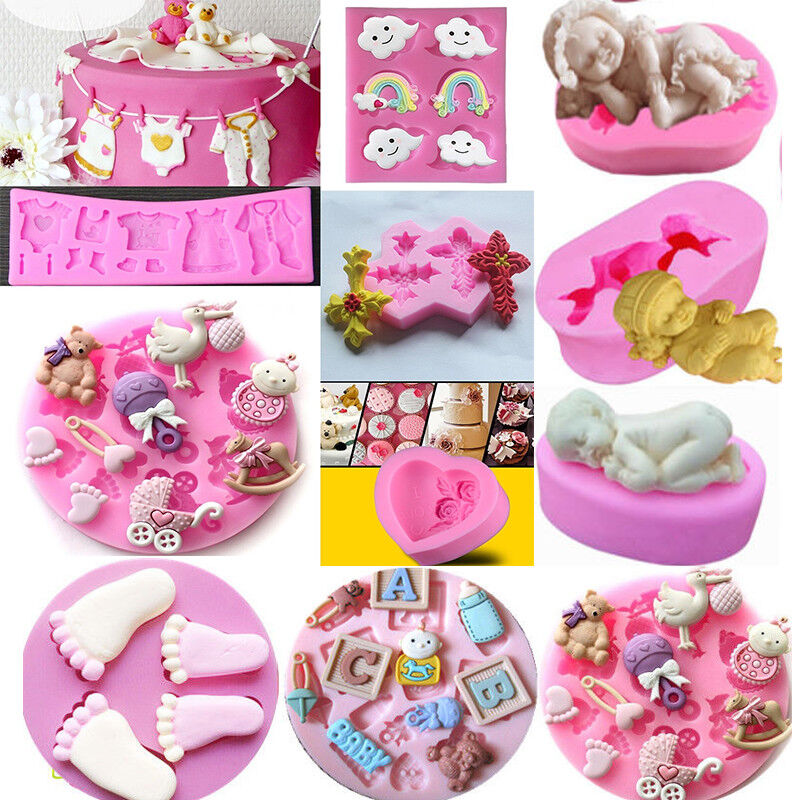 Baby 3D Silicone Fondant Cake Decor Mould Mold Chocolate ...