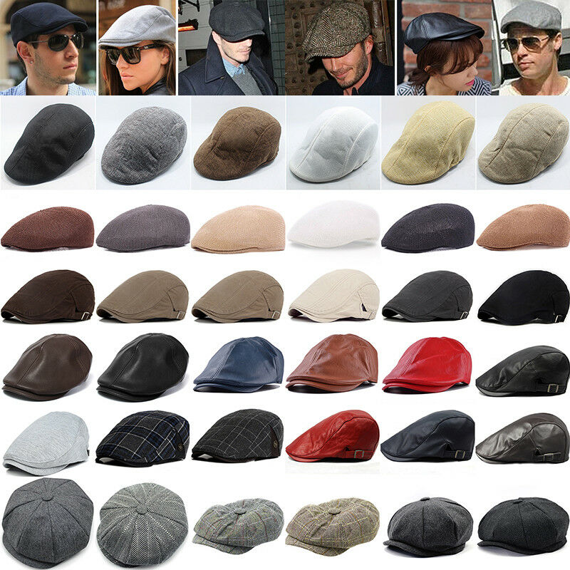 Details about Mens Baker Boy Caps Unisex Country Style Gatsby Hat Newsboy  Flat Cabbie Artist be40ac2722d