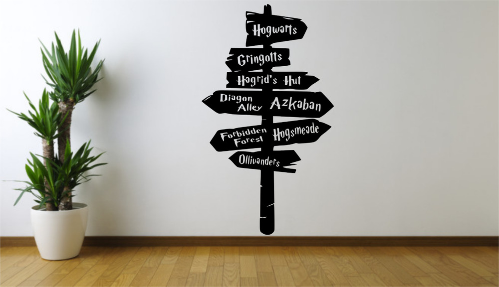 Harry Potter Movie Sign Post Directions Cool Home Wall