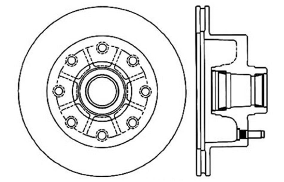 Disc Brake Rotor Front Centric 121 65000 Fits 68 71 Ford F 250