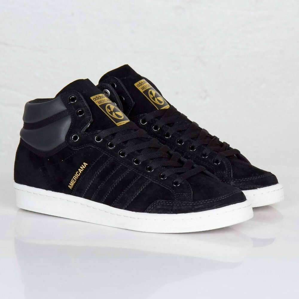 reputable site 83379 b6417 Details about Adidas Originals Americana Hi 88 Gold Black Mens Lifestyle  Sneakers New G96846