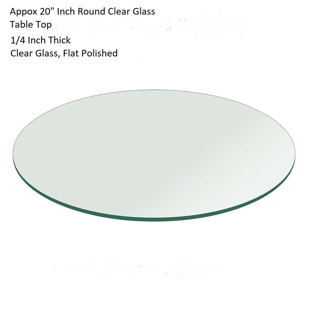 Circular glass table top Wood Details About 20 Ebay 20