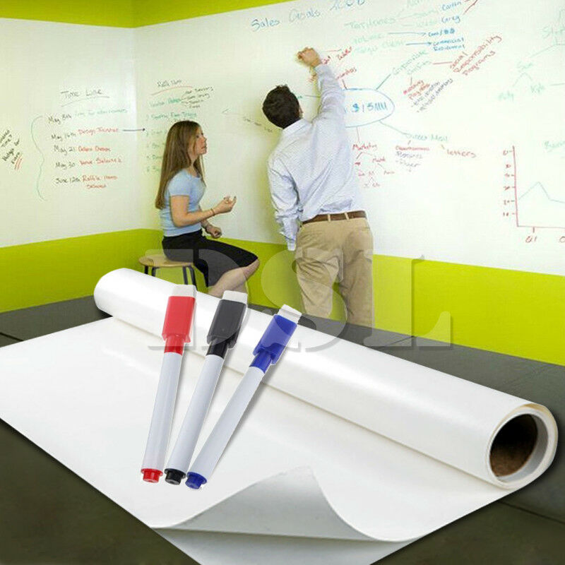 2m x 60cm dry wipe removable whiteboard vinyl wall sticker office