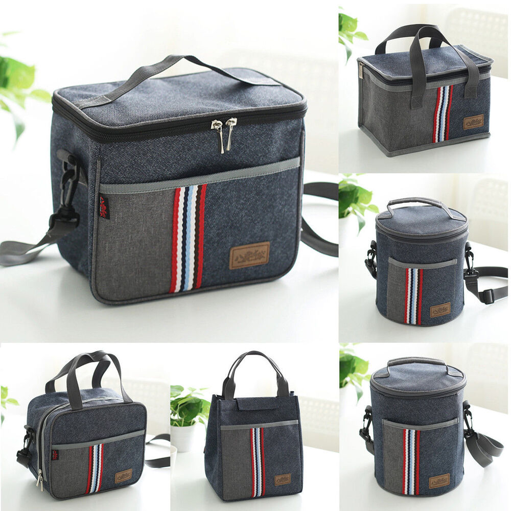 Portable Insulated Thermal Cooler Lunch Box Bento Tote