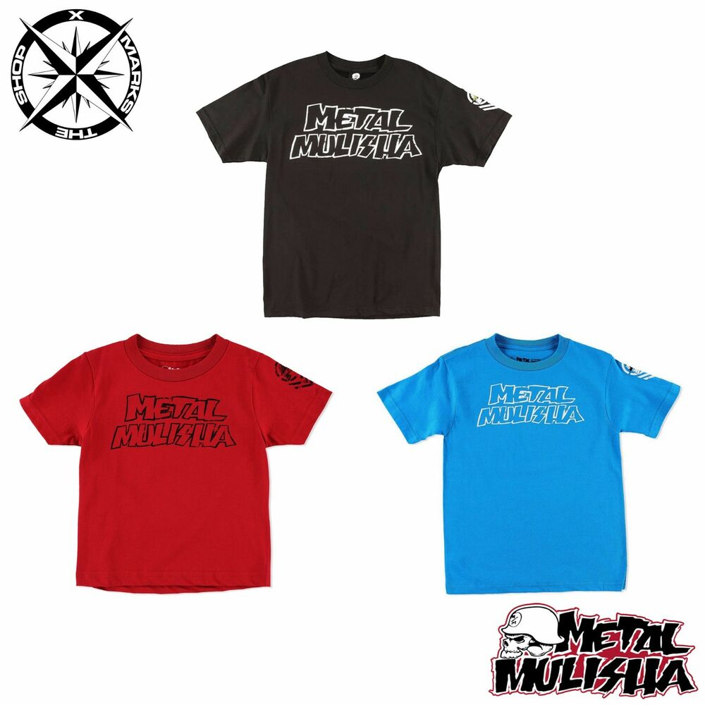 387848612 Details about METAL MULISHA 'THROWBACK' BOYS T-SHIRT AGE 4 5~6 10~11 RED  BLACK BLUE RRP £15-18