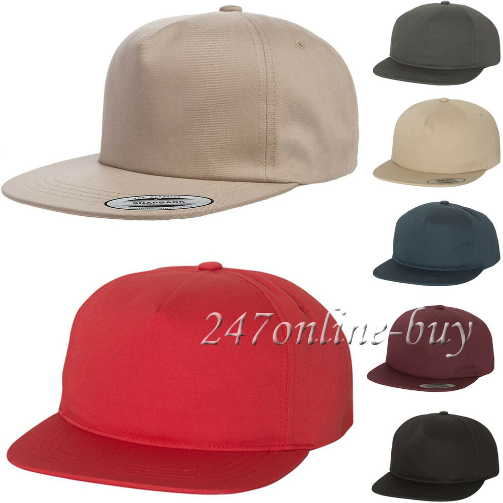 9482753f5f1bb Yupoong Unstructured 5-Panel Snapback Cap softstrucutred Hat 6502