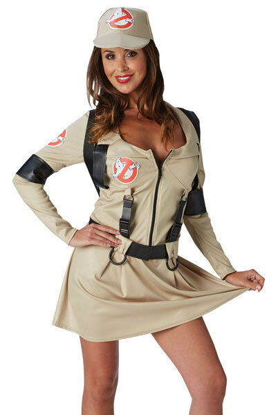 Ladies Sexy Ghostbusters Ghost Buster Halloween Fancy Dress Costume