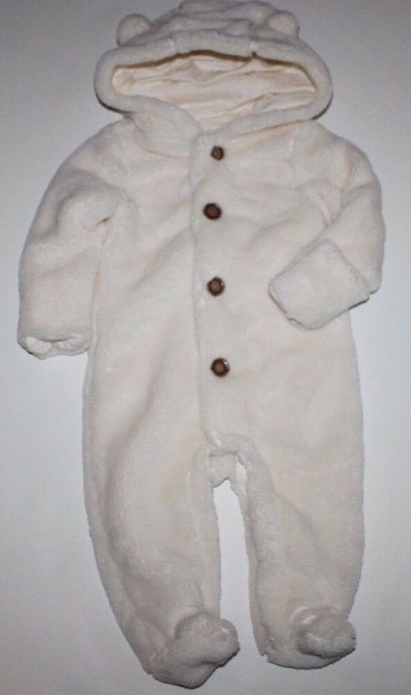 3eff5994e Details about baby Gap NWT Girl Boy Hooded Footed Fleece Snowsuit Bundler  Hand Covers