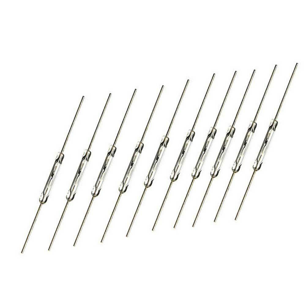 10pcs 14mm glass magnetic induction reed switch magswitch