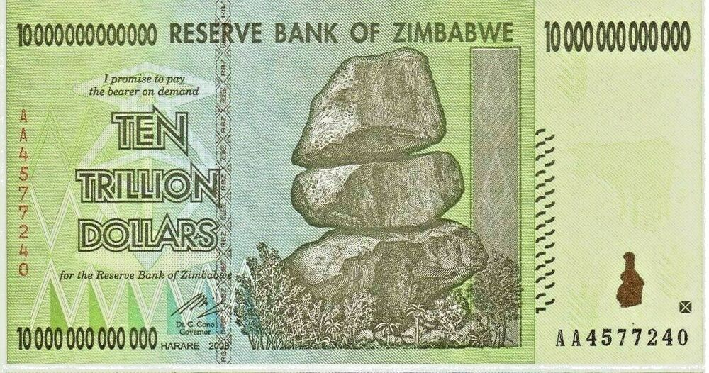 Details About 10 Trillion Zimbabwe Dollar Aa Uncirculated Money Currency Unc 20 50 100