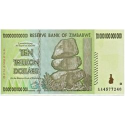 Kyпить 10 TRILLION ZIMBABWE DOLLAR AA UNCirculated 2008. MONEY CURRENCY.  [20 50 100]  на еВаy.соm