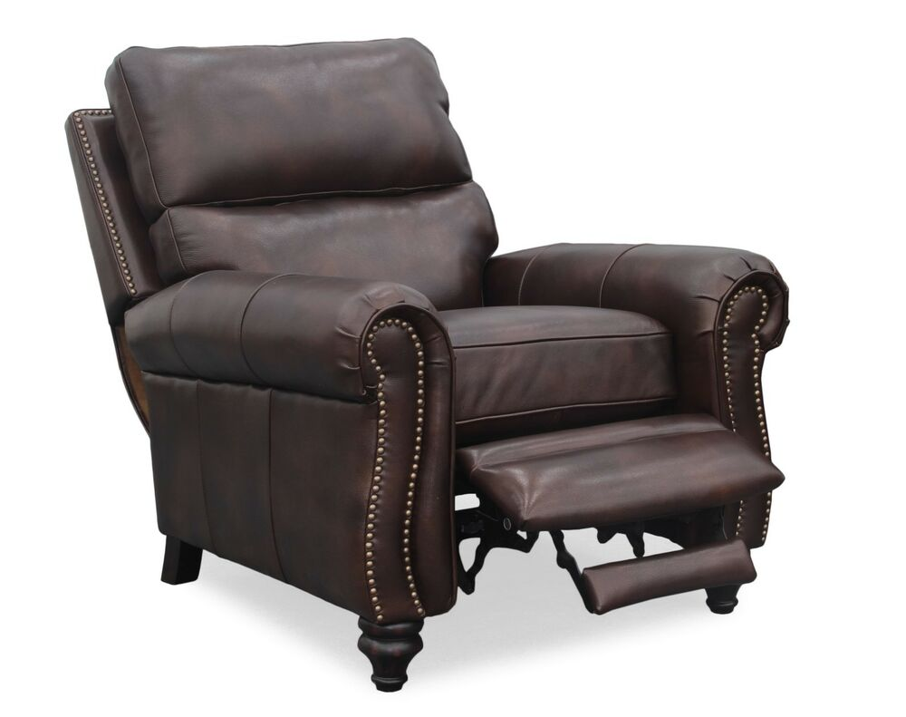 new barcalounger dalton ii genuine kerry sable top grain leather recliner chair 619084075509 ebay. Black Bedroom Furniture Sets. Home Design Ideas