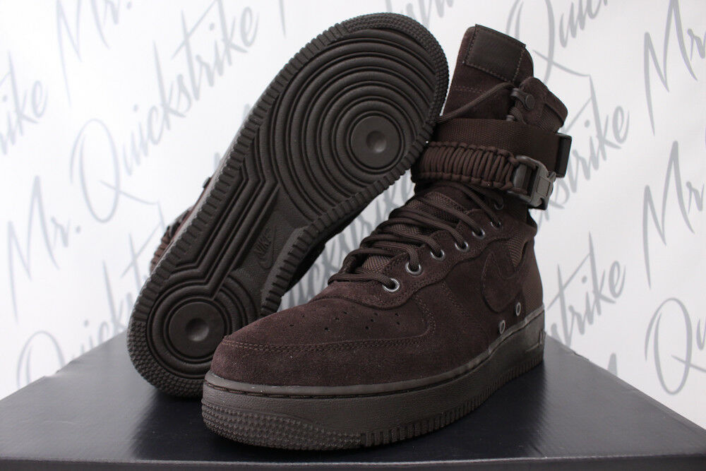 Details about NIKE SF AIR FORCE 1 SPECIAL FIELD HIGH SZ 9.5 AF1 VELVET BROWN  BOOT 864024 203 44839cc12
