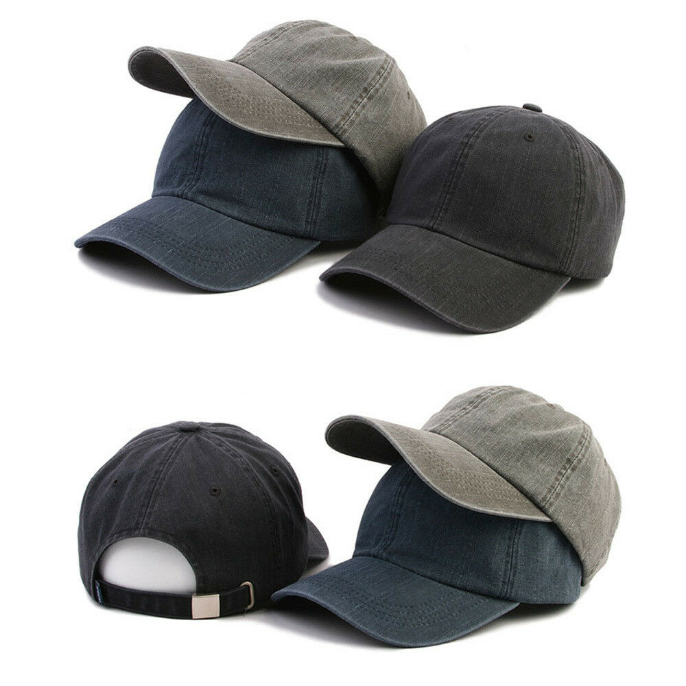 Details about XL~2XL XXL 61~64Cm Unisex Mens Faded Washed Out Plain Baseball  Cap Trucker Hats 2a0910025e1