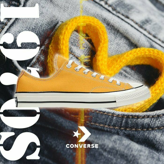 7fd67c9950e Converse Chuck Taylor All Star Low 1970s Sunflower Yellow First String  151229C