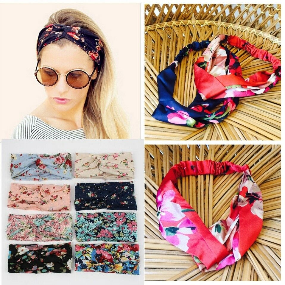 Popular Brand Lovely Retro Ladies Headband Elastic Head Wrap Turban Hair Band Girls Women Uk Hair Accessories