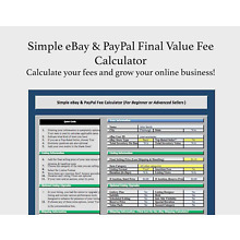 Simple eBay & PayPal Final Value Fee Calculator Selling Microsoft Excel + FREE
