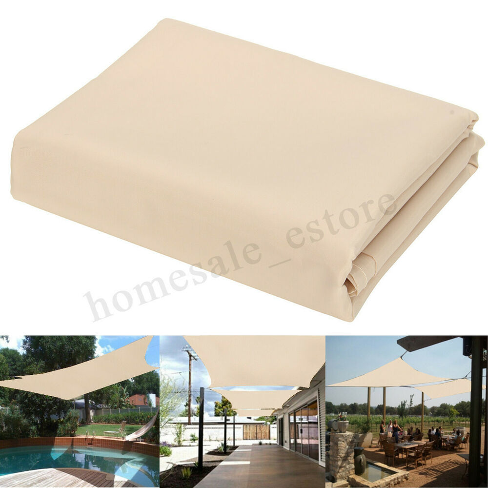 patio sun shade sail shelter outdoor garden car cover awning canopy custom size ebay. Black Bedroom Furniture Sets. Home Design Ideas