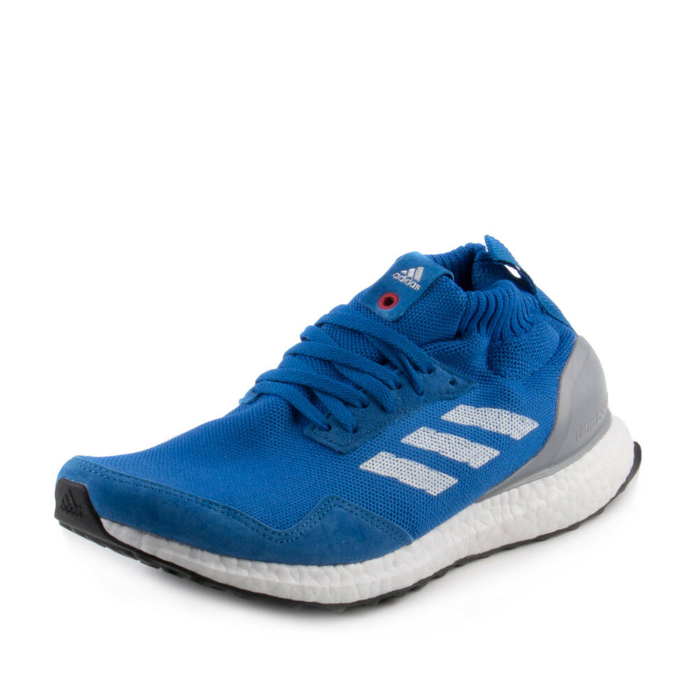 detailed look 655e8 977b6 Details about Adidas Mens Ultra Boost Mid Blue BY3056 Size 8