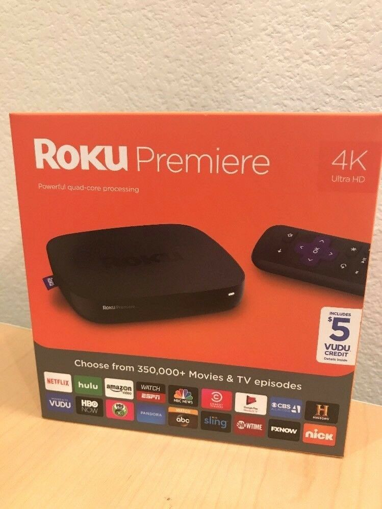Roku Box: Premiere 4K Ultra HD Streaming Media Player (FREE