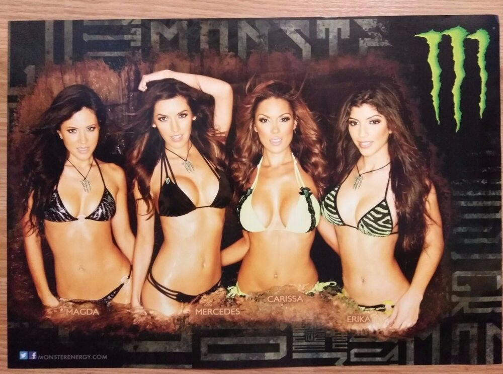 Sexy Girl Dorm Poster  Monster Energy Drink Four Sexy -7878