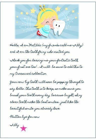 tooth fairy letter tooth letter bring the magic amp make smiles ebay 13835 | s l1000