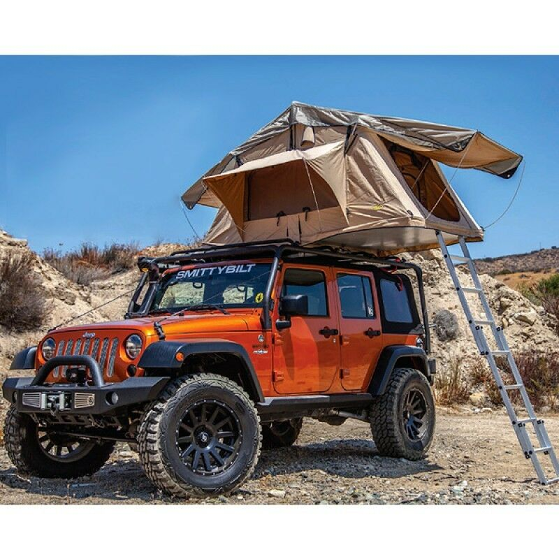 smittybilt 2783 overlander roof top camping tent w ladder. Black Bedroom Furniture Sets. Home Design Ideas