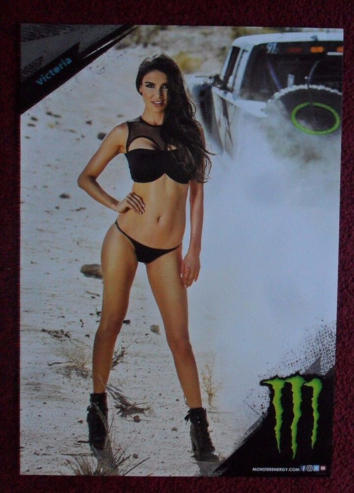 Sexy Girl Dorm Poster  Monster Energy Drink Victoria Baja -2123