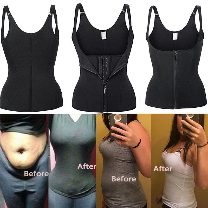 364fa0e1c1e US Women Waist Trainer Corset For Weight Loss Neoprene Body Shaper Vest  Sauna