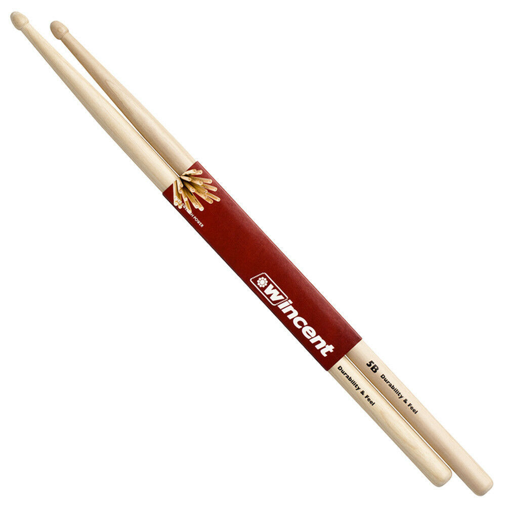 wincent 5b selected hickory drumsticks unique wax protected ebay. Black Bedroom Furniture Sets. Home Design Ideas