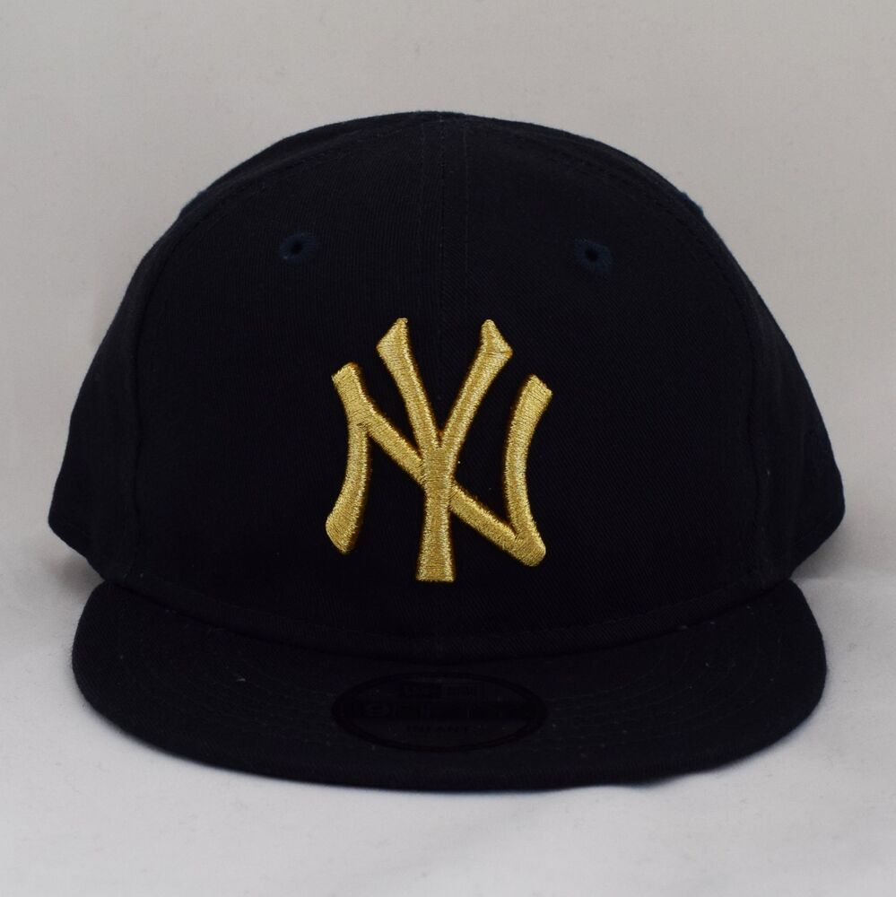 dc667a74195 Details about New Era Kids Infant 9Fifty Gold on Navy Adjustable Snapback Baby  Cap Hat