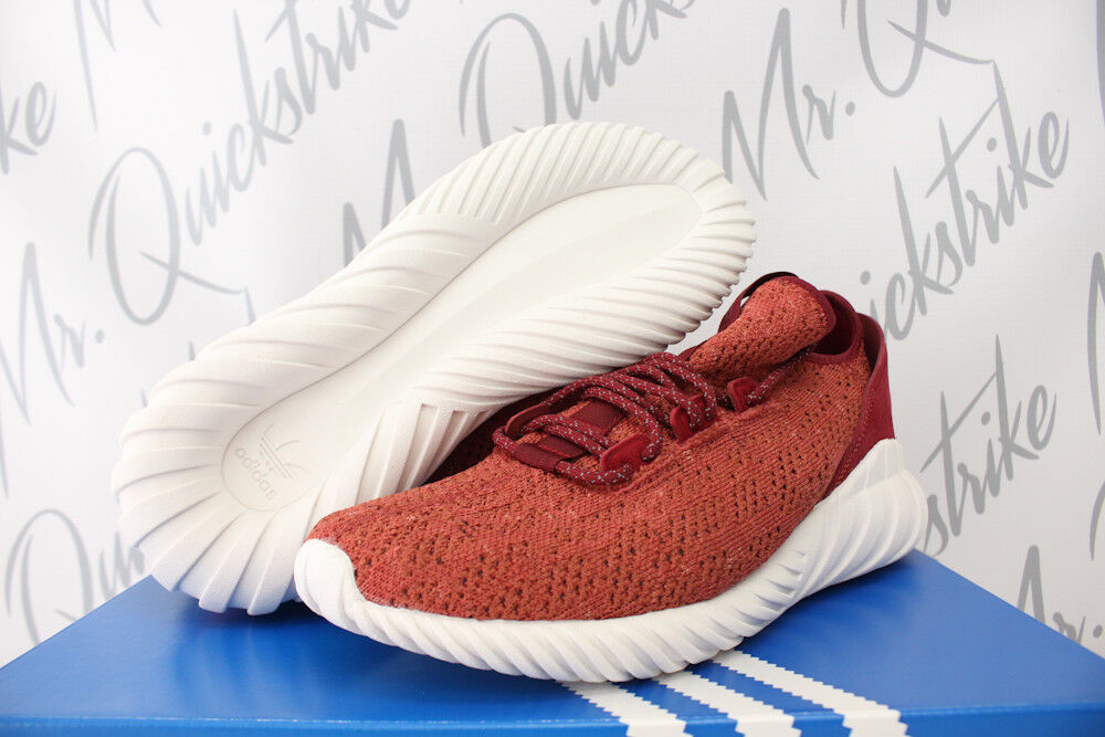 reputable site ae314 90e02 Details about ADIDAS TUBULAR DOOM SOCK PK SZ 13 PRIMEKNIT MYSTERY RED WHITE  BY3560