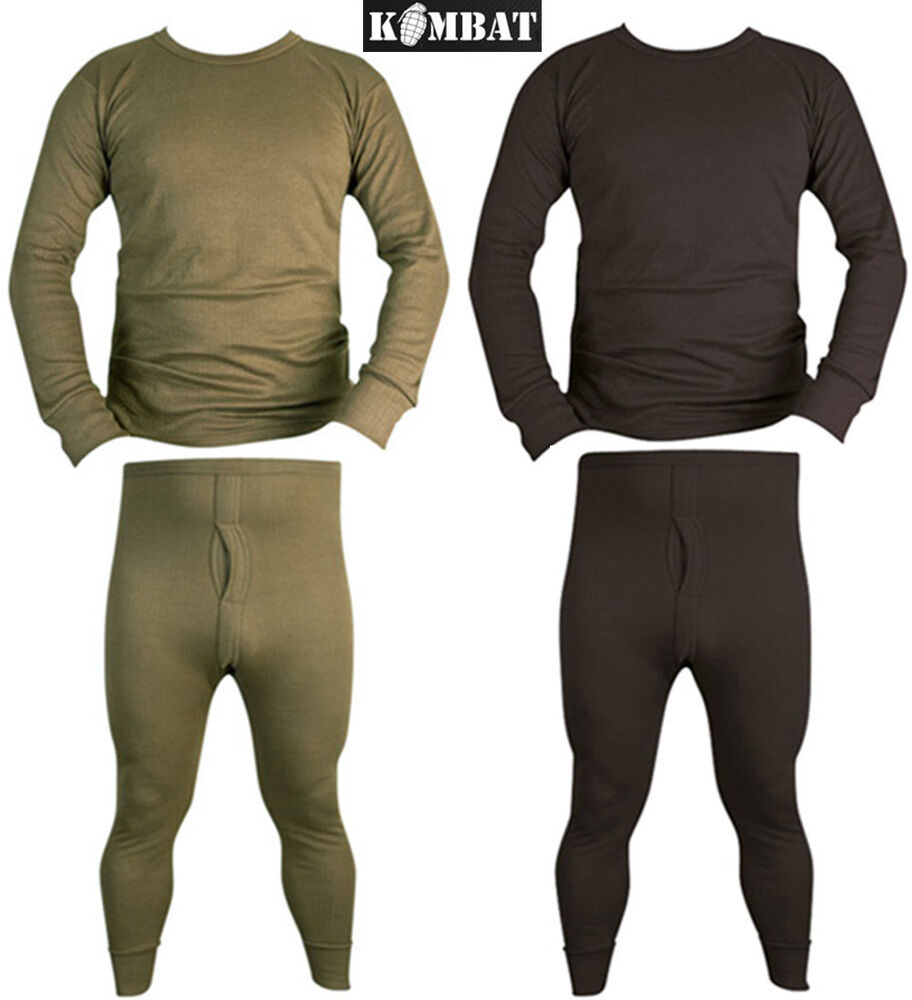 mens army winter thermal long johns bottoms base layer top. Black Bedroom Furniture Sets. Home Design Ideas