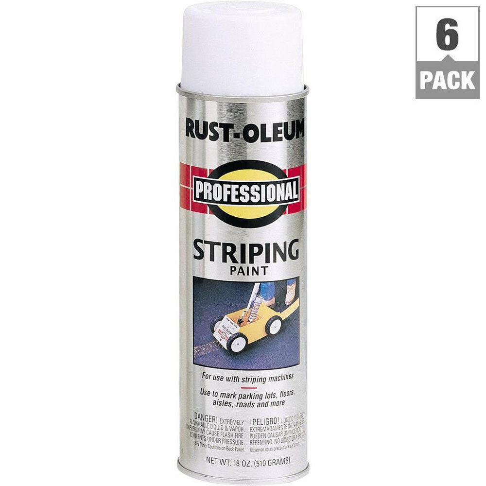 Details About 6 Pack Rust Oleum Flat White Spray Paint Parking Lot Striping Road Line Marking