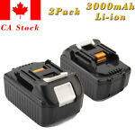 2Pcs 18V 3.0AH Li-ion Battery for Makita BL1830 BL1840B BL1850 194205-3 Lxt-400