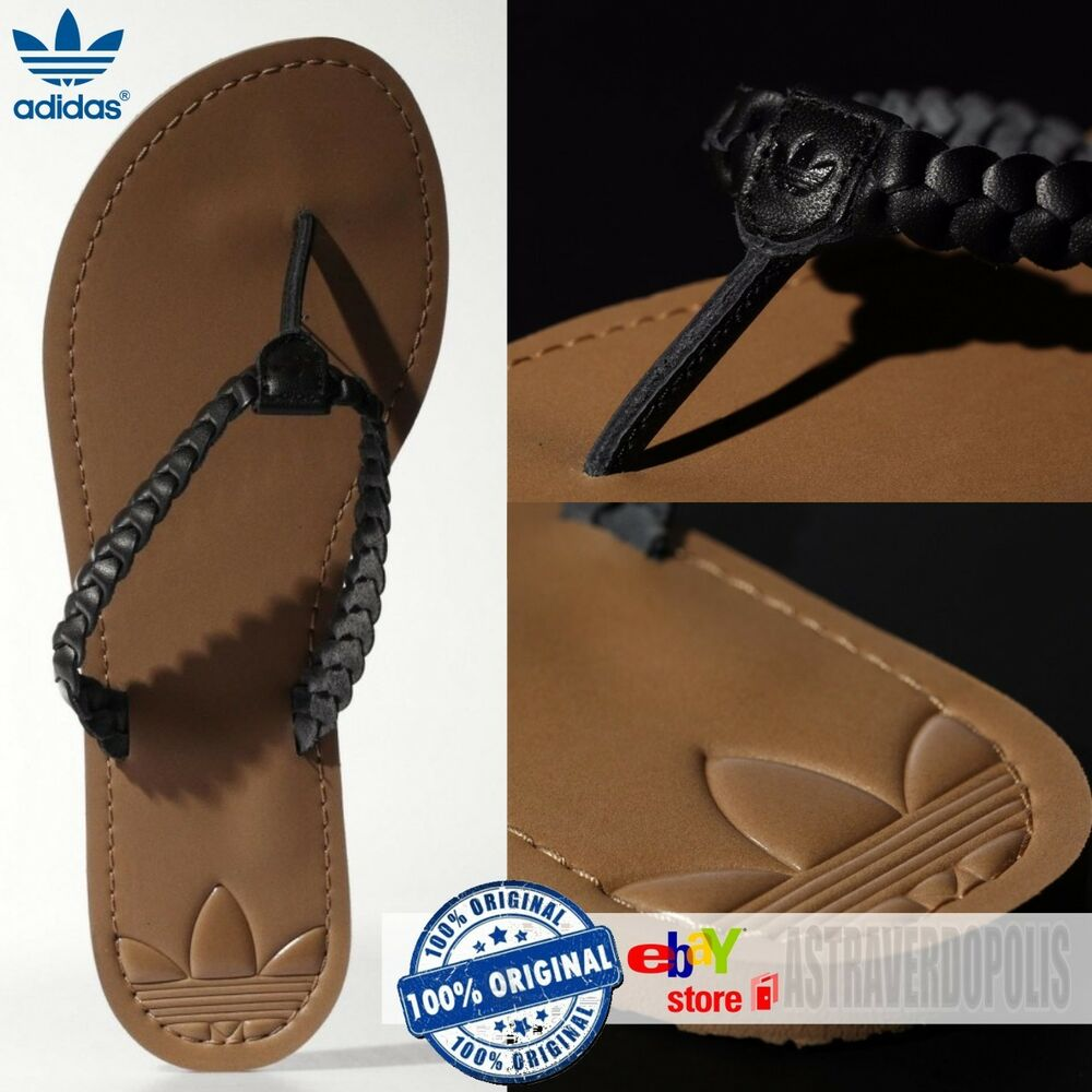 official photos 7a7a3 b03d1 Details about ADIDAS ORIGINALS LEATHER SANDALS Flip Flops Slides ADISUN W  Womens Shoes US 6