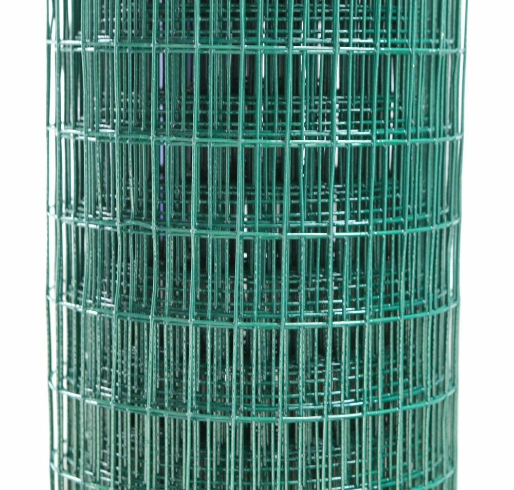 18ga Green PVC Coated Fence Welded Mesh Wire Fencing 1/2\