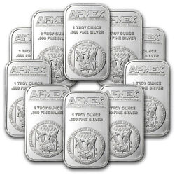 Kyпить 1 oz Silver Bar - APMEX (Lot of 10 Bars) .999 Fine Silver на еВаy.соm