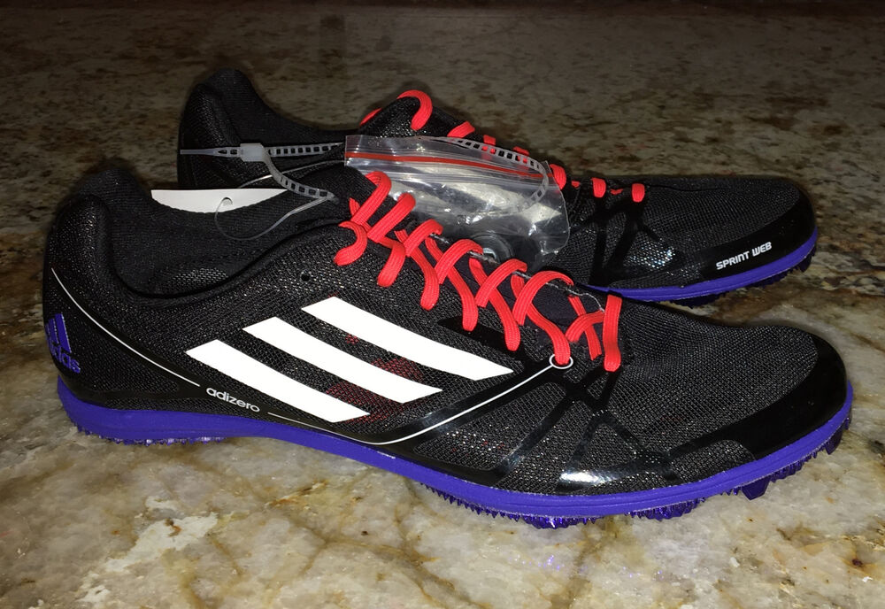 a54f91b19c Details about ADIDAS AdiZero Avanti 2 AT Mid Distance Track Spike Shoes  BLACK White Red Mens 7
